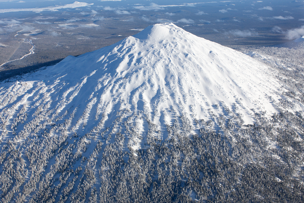 Aerial Photography Mt Bachelor Bend Oregon