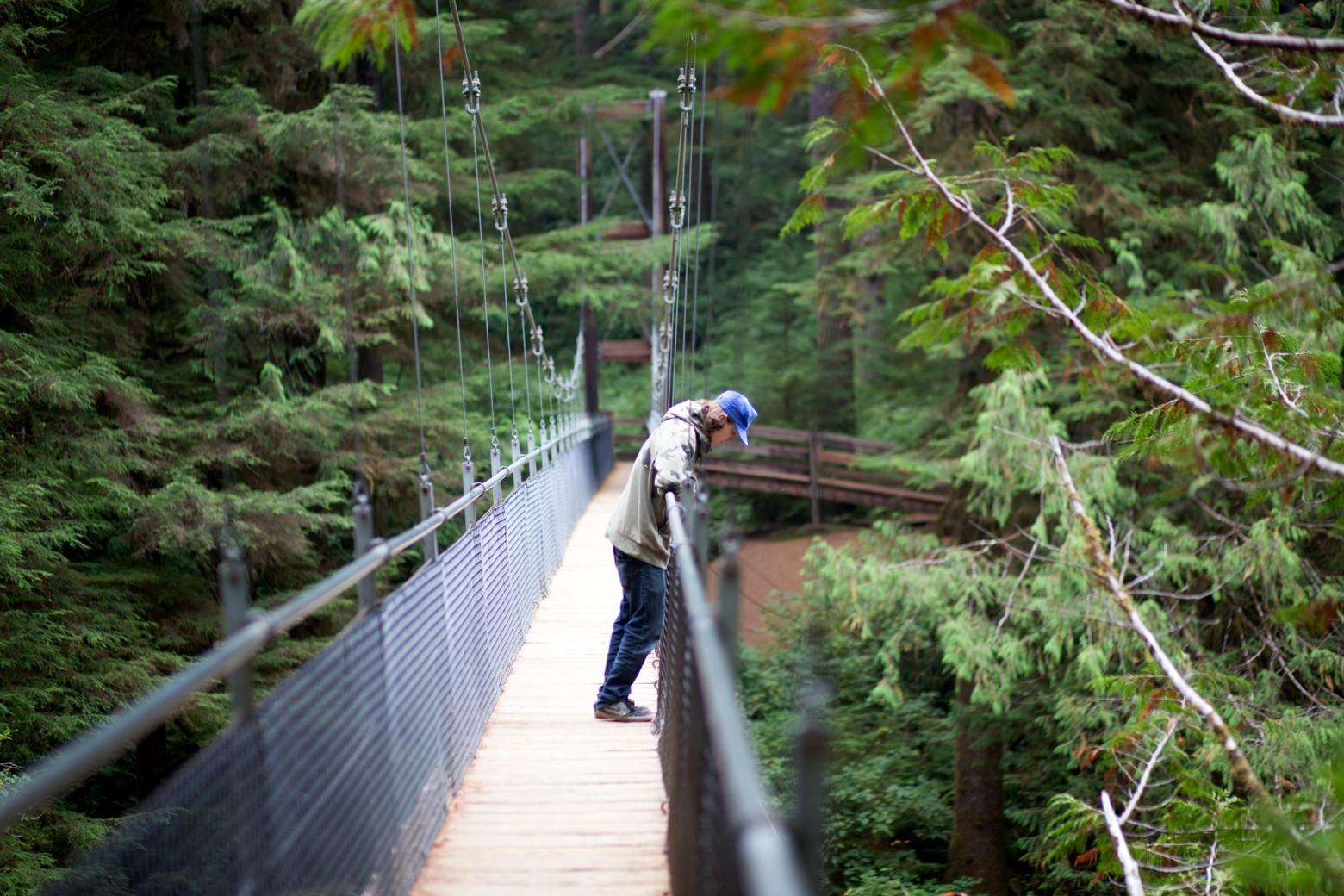 Suspended Bridge Oregon Coast