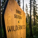 Three Sisters Wilderness Sign