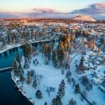 Drake Park Winter Aerial