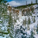 Tumalo Falls Winter Bend Oregon