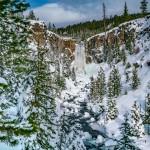 Tumalo Falls Winter Bend Oregon