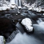 Fall Creek Falls Winter Bend Oregon