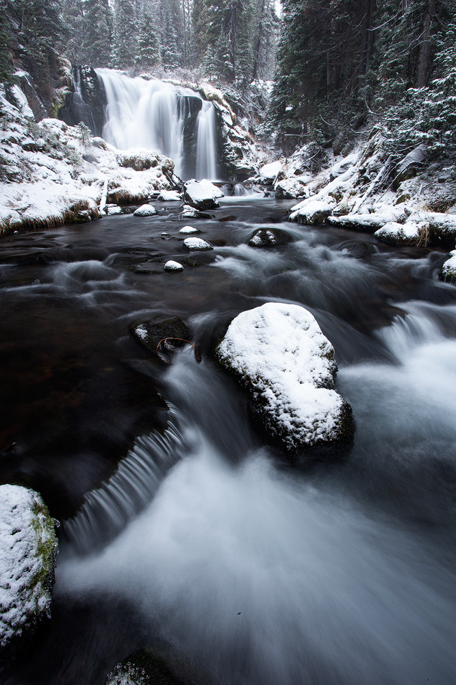 Fall Creek Falls Winter Bend Oregon