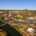Old Mill & Pilot Butte Aerial