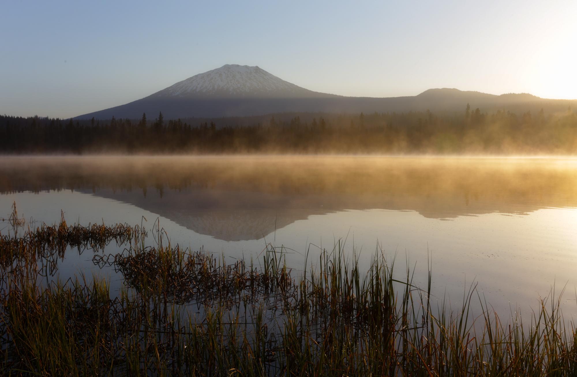 Lava Lake Mt Bachelor - Bend Oregon Stock Photography