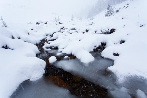 Snowfall Bend Oregon
