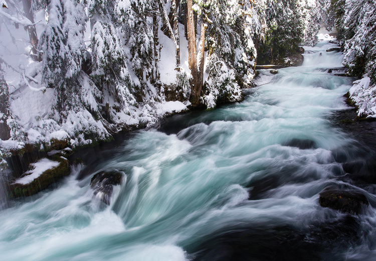 Mckenzie River Winter Central Oregon