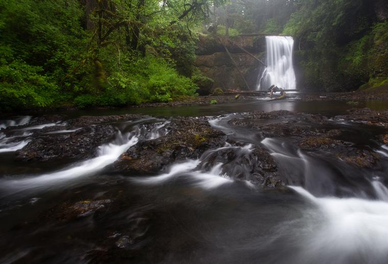Upper North Falls Silver Falls State Park By Skyler Hughes