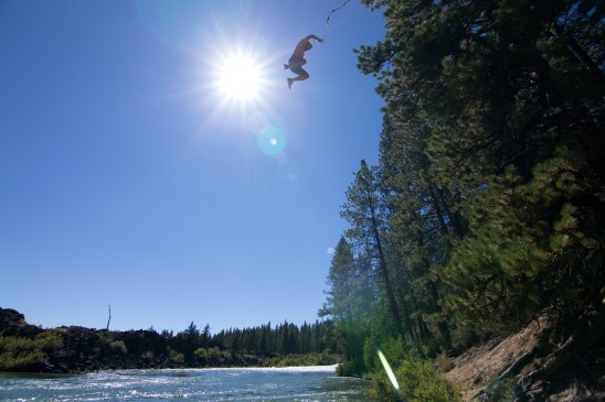Rope Swing On Deschutes River