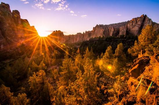 Smith Rock Sun Flare