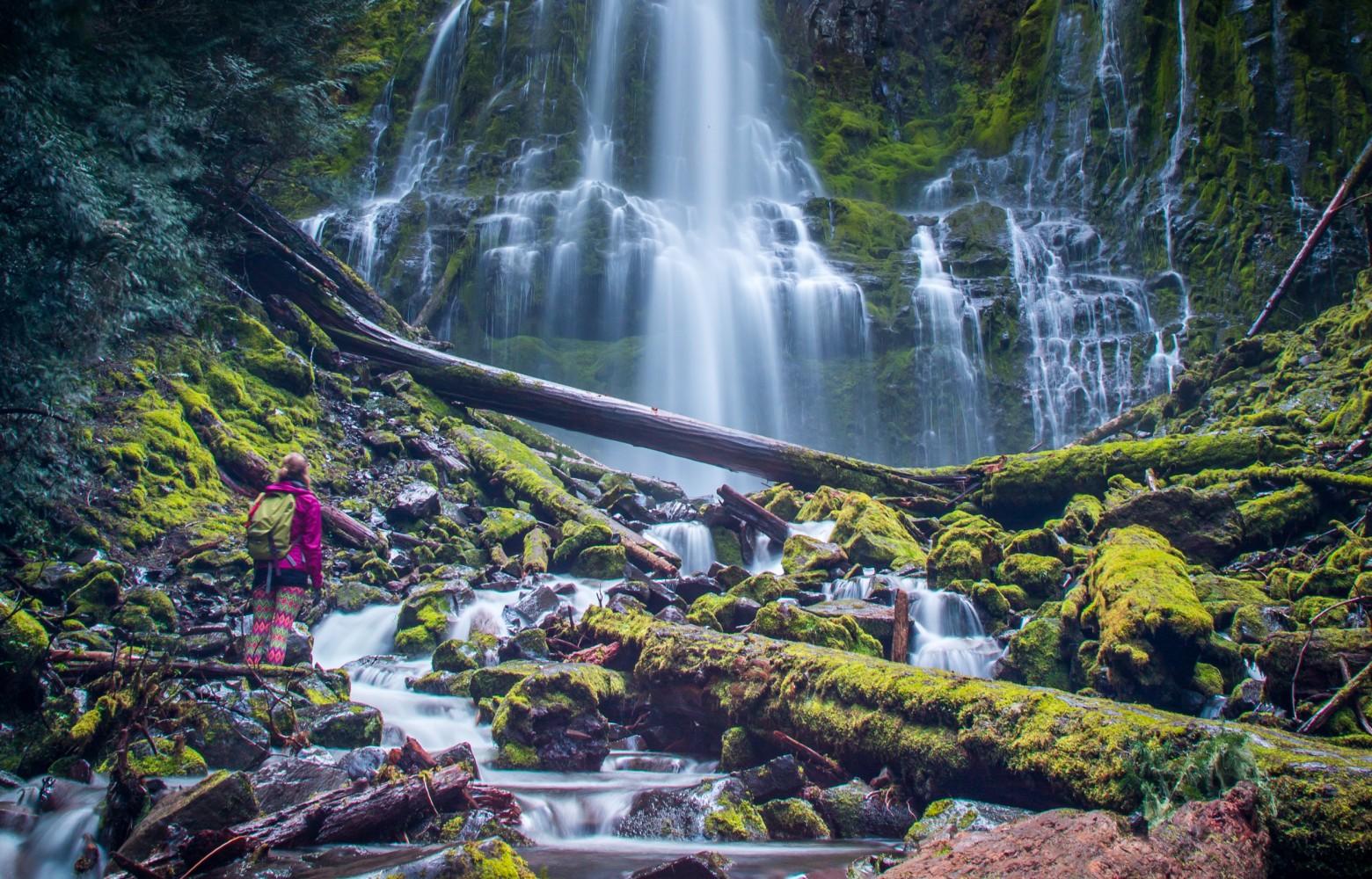 Proxy Falls Hiker