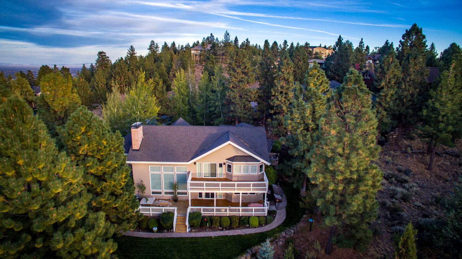 Bend Oregon Real Estate Aerial View