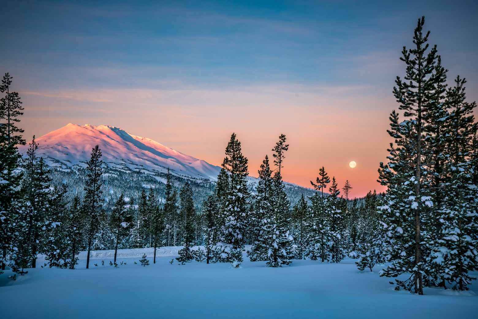 Mt Bachelor Winter Sunset