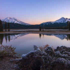 Sparks Lake Bend Oregon Sunrise