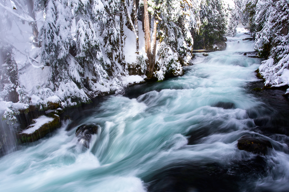 Mckenzie River Winter Oregon