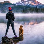 Sparks Lake Girl & Dog Nate Wyeth