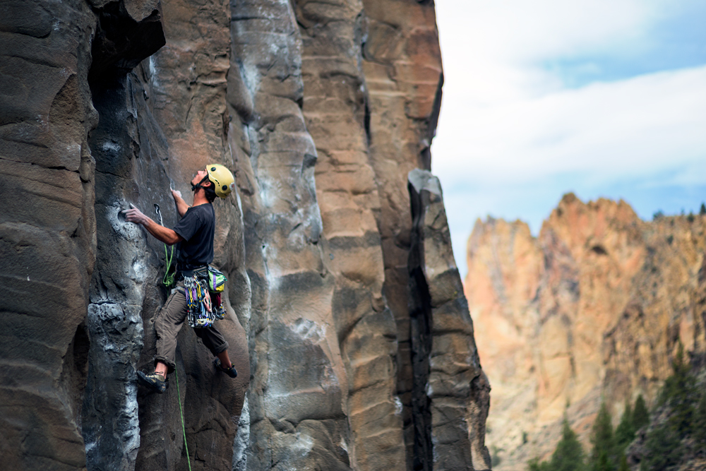Smith Rock Climbing Lower Gorge Skyler Hughes