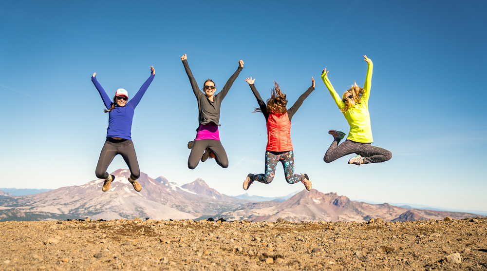 Group Of Girls On Top Of Mountain Bend Oregon