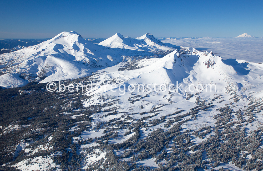Three Sisters Aerial Bend Oregon Stock Photography