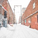Snowy Downtown Bend Alley